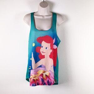 ARIEL Little Mermaid Princess Racerback Tank Top L